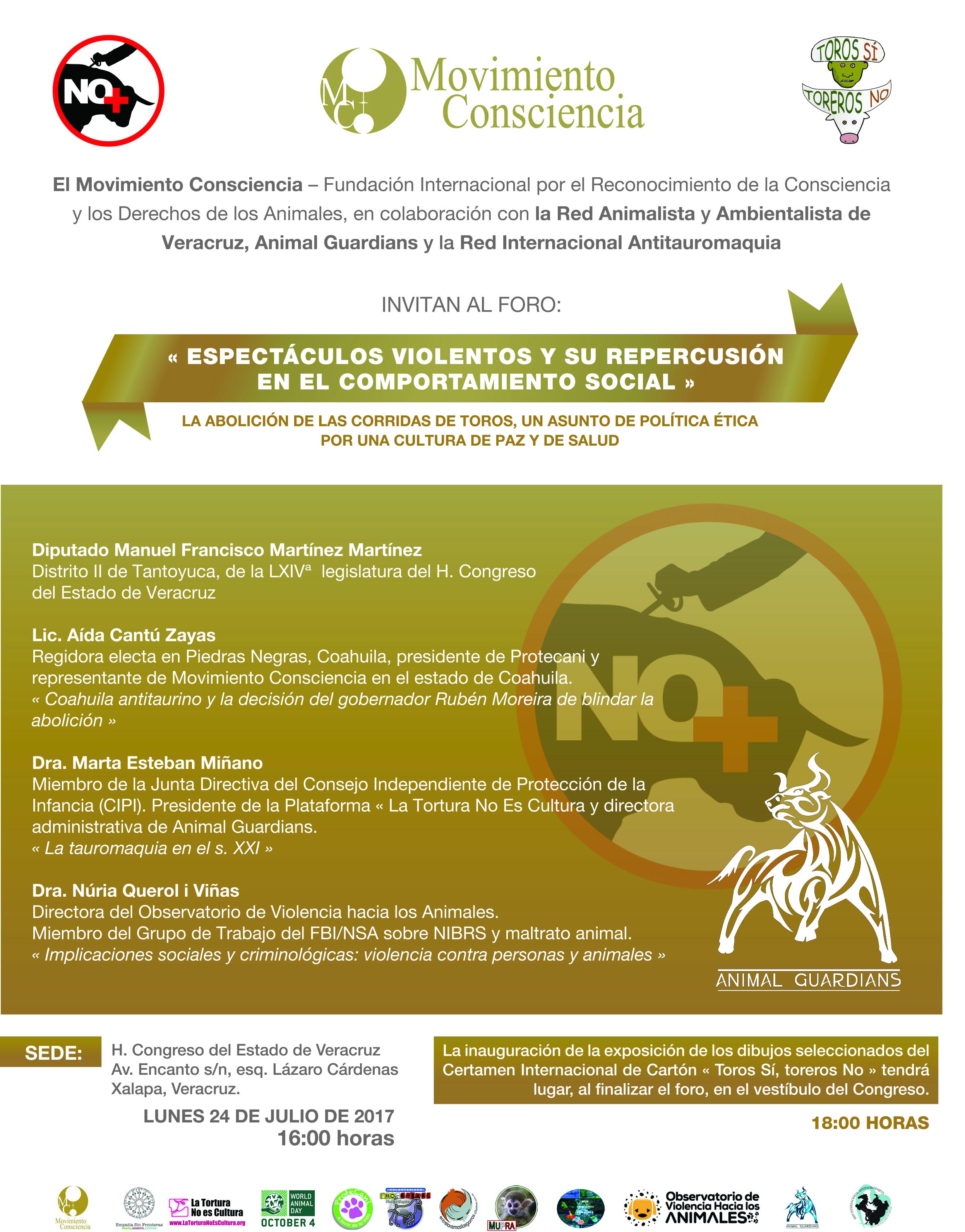Foro abolicionista y exposición anti-taurina en el H. Congreso del Estado de Veracruz