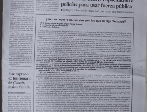 ¿Son las leyes o no las vías por las que se rige Veracruz? Al C. Gobernador Miguel Ángel Yunes Linares,  A los Medios de Comunicación,  A la Opinión Pública: